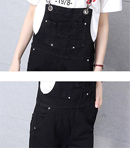 Femme Noir clothing Jeans noir Salopette COCO I8wqC