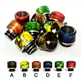 Vaprotown 510 Resin Drip Tip fit for SMOK TFV8 Baby Beast with Stainless Steel Base (F - Red)