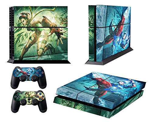 EBTY-Dreams Inc. - Sony Playstation 4 (PS4) - Street Fighter Video Game Chun-Li & Cammy Vinyl Skin Sticker Decal Protector