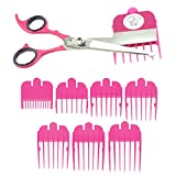 Scaredy Cut Silent Pet Grooming Kit For Cats & Dogs - Quiet Alternative to Electric Clippers For Sensitive Pets - Left-Handed, Pink