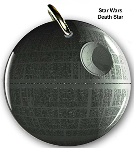 Pet ID Tags Dog Tags Star Wars Death Star (Large 1.5