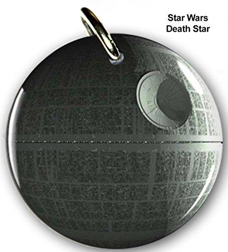 Pet ID Tags Dog Tags Star Wars Death Star (Large 1.5'') by Pet Tags
