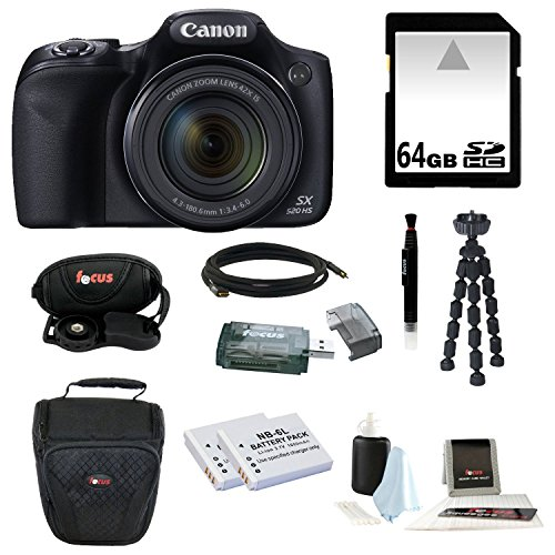 Canon Powershot SX520 HS 16.0 MP Digital Camera with 42x