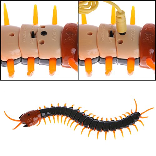 Cencity Remote Control Animal Centipede Creepy-crawly Prank Funny Toys Gift for Kids  for Kids, Raves, Birthday, Wedding, Christmas, Halloween, Children Party Decor Toy (A)