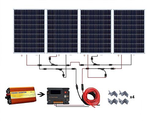 ECO-WORTHY-400-W-Watt-400W-Solar-Panel-with-1000W-Pure-Sine-Wave-Inverter-and-Complete-kit-for-RV-Boat-Off-Grid-24-Volt-Battery-Systems