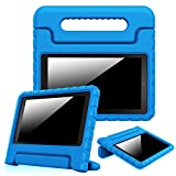 Fintie Shock Proof Case for Fire 7 2015 - Kiddie Series Light Weight Convertible Handle Stand Cover Kids Friendly for Amazon Fire 7 Tablet (Fire 7