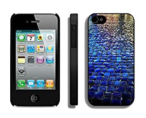 Blue Tiled Walkway The Stone Road iPhone 4 4S Case Black Cover