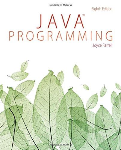 Java Programming ISBN-13 9781285856919