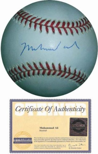 Autograph 223855 Al Boxer Boxing Champ Steiner Sports Hologram Certificate of Authenticity Muhammad Ali Autographed Baseball