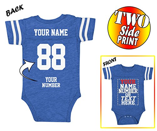 Infant Jersey - Tee Miracle Custom Jerseys for Babies - Make Your OWN Jersey Onesie - Personalized Baby Onesies & Newborn Outfits