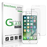iPhone 7 6S 6 Screen Protector Glass, amFilm iPhone 7 Tempered Glass Screen Protector for Apple iPhone 7, iPhone 6S, iPhone 6 2016, 2015 (2-Pack) (Electronics)