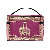 Hippie Indian Elephant Mandala Cosmetic Bags Travel Makeup Toiletry Organizer Case
