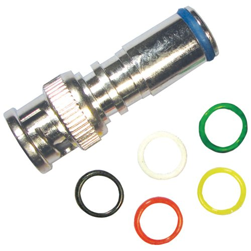 Forza B-716Mbpe Weatherseal Plus High-Performance Compression BNC Connectors, 5 Pack, Mini RG59, 6-Bands