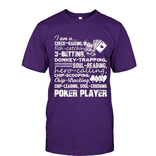 Poker T-Shirt - I Am A Poker Player Cool T Shirts Design Unisex (M,Purple)