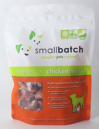 Product image of Small Batch Pet Freeze Dried Chicken Heart Treat, 3.5 ounce