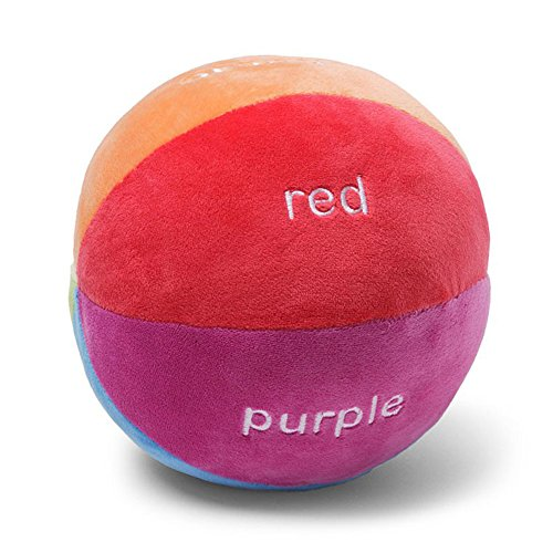 GUND Color Fun Educational Stuffed Plush Rattle Ball by GUND