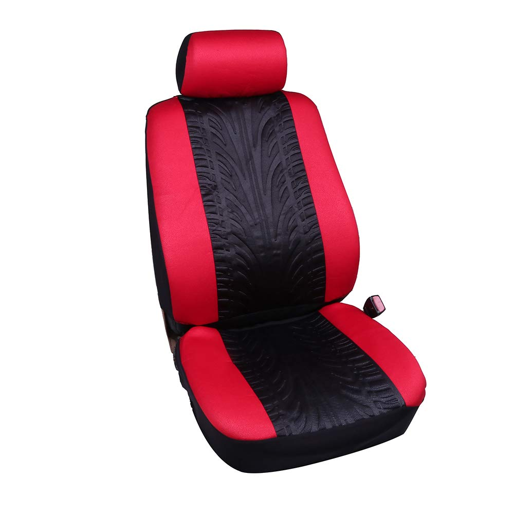 Black//Gray ECCPP Universal Car Seat Cover w//Headrest Covers 100/% Breathable Embossed Cloth Stretchy Auto Cover Durable Car Seat Cover for Most Cars
