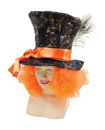 Mad Hatter Hut mit orangenen Haaren