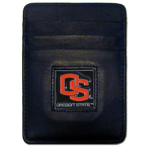 NCAA Oregon State Beavers Leather Money Clip/Cardholder Wallet
