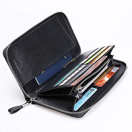Poche Carte Pour Portefeuille Avec Monnaie Homme Porte Poignet De Zippée Sac Clip Cuir Design À En cartes Yter qw68HEw