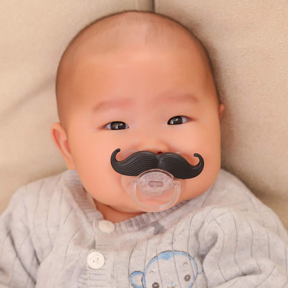NiceButy noir dr/ôle silicone T/étine nourrisson B/éb/é Enfant Sucette Nipples Mustache Barbe Nice cadeau barbe tombantes