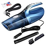 #8: CaseHaven 4-in-1 Handheld Auto Car Vacuum Cleaner Portable Dust Vacuum Cleaner Collector Wet/Dry 12V 100W Vacuum with Tire Inflator Tire Pressure Gauge and Led Light (Blue)