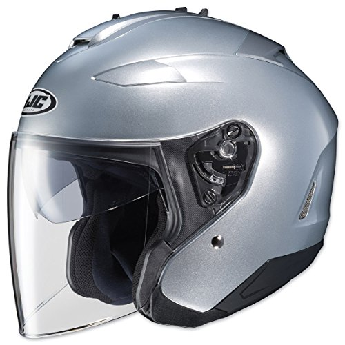 HJC Closeouts IS-33 II Metallic Silver Open Face Helmet