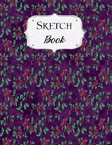 Sketch Book: Flower | Sketchbook | Scetchpad for Drawing or Doodling | Notebook Pad for Creative Artists | Purple Japanese