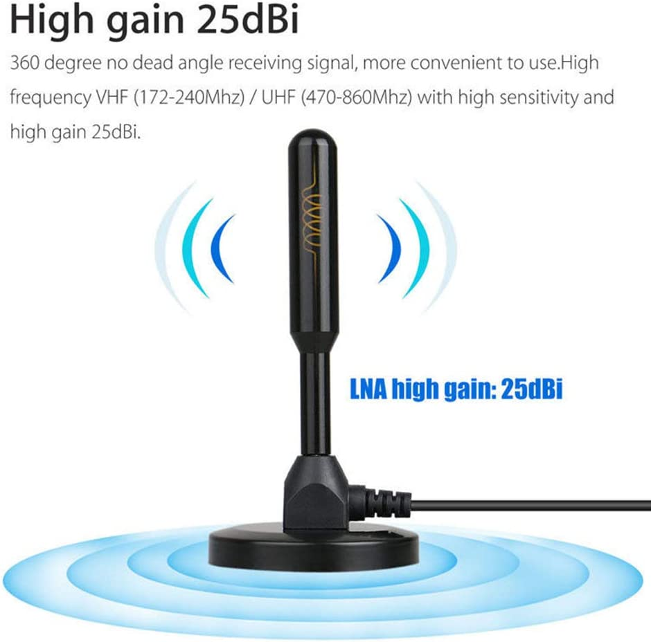 25dBi 200 Mile Gain Digital Indoor DVB-T DVB-T2 TV HDTV Antenna Aerial Amplifier