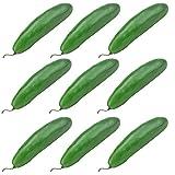 Simla Decor 9 pcs/pack Artificial Foam Green Cucumber Fake Vegetable Decoration