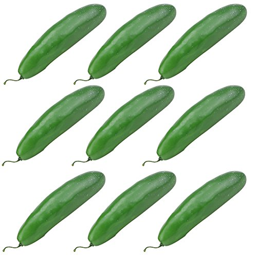Simla Decor 9 pcs/pack Artificial Foam Green Cucumber Fake Vegetable Decoration by Simla Decor