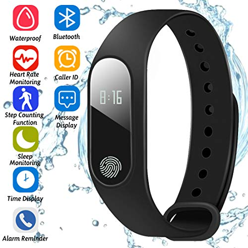 Smart Bracelet Running Sport Fitness Watch,Pedometer,Sleep Monitor,OLED Touchpad Heart Rate Monitor,Calorie Counter…