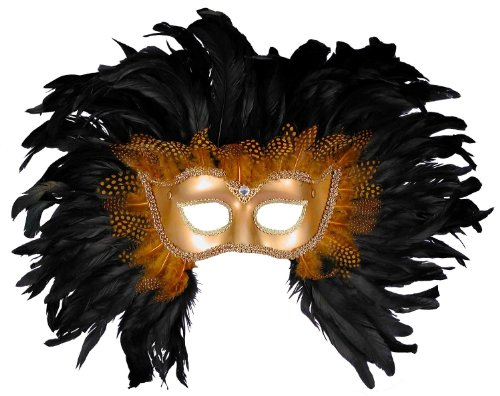 Morris Costumes Men's HALF STYLE MASK, GD W FEATHERS (Mickey Mouse Costume Rental For Adults)