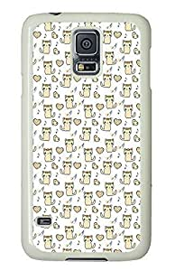 cassette Samsung Galaxy S5 covers Kitty And Heart Patterns Cute PC White Custom Samsung Galaxy S5 Case Cover