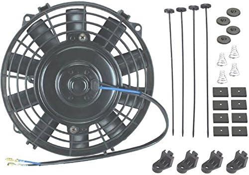 American Volt 12 voltios Motor Automotriz Radiador Eléctrico Ventilador de Refrigeración Reversible Alto Rendimiento Termo Coche Camión Enfriador Custom Actualizado Motor Mejor CFM: Amazon.es: Coche y moto