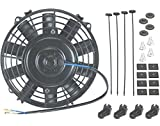 """American Volt 7"""" Inch Straight Blade Electric Fan Transmission Oil Cooler Atv Tractor Mower"""