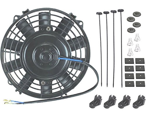 American Volt 7' Inch Straight Blade Electric Fan Transmission Oil Cooler Atv Tractor Mower