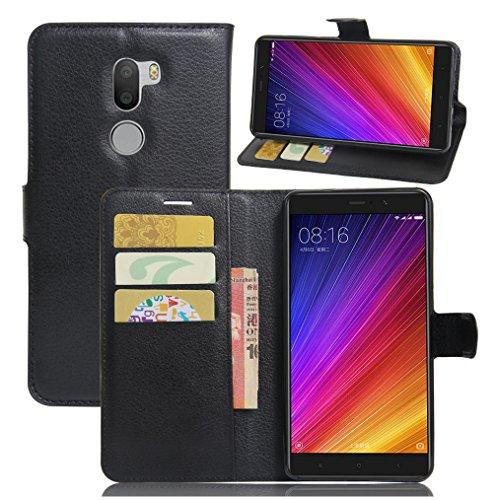 Funda Xiaomi Mi 5S Plus,Manyip Caja del teléfono del cuero,Protector de Pantalla de Slim Case Estilo Billetera con Ranuras para Tarjetas, Soporte Plegable, Cierre Magnético A