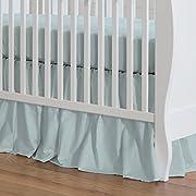 Carousel Designs Solid Robin's Egg Blue Crib Skirt Gathered 20-Inch Length