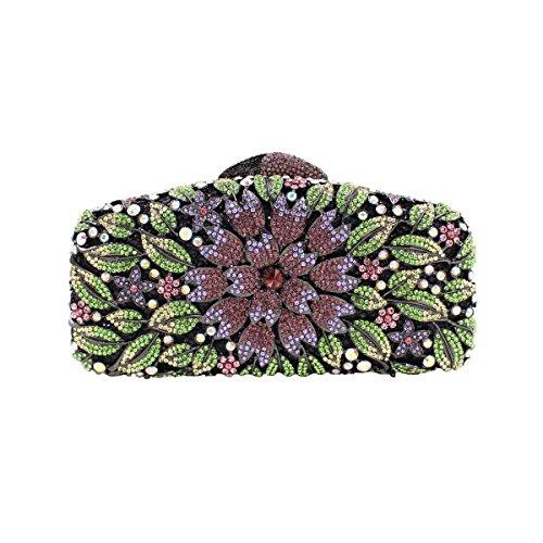 De Haute De à Soirée Luxe Qualité De Sac Des Sac Femmes C Main Diamants Fleurs EtwqATg