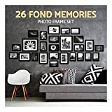 26pcs Black Photo Frame Set Hanging Picture Modern Display Home Wall Art Decor
