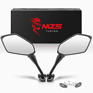 MZS Motorcycle Mirrors Rear View Adjustment for Ninja 250 400 CBR250R CBR300R CBR500R CBR600RR CBR 600 F4 F4I CBR900RR CBR919RR CBR929RR CBR954RR VFR800 VTR1000 GT125R GT250R GT650R GT650S XB12R