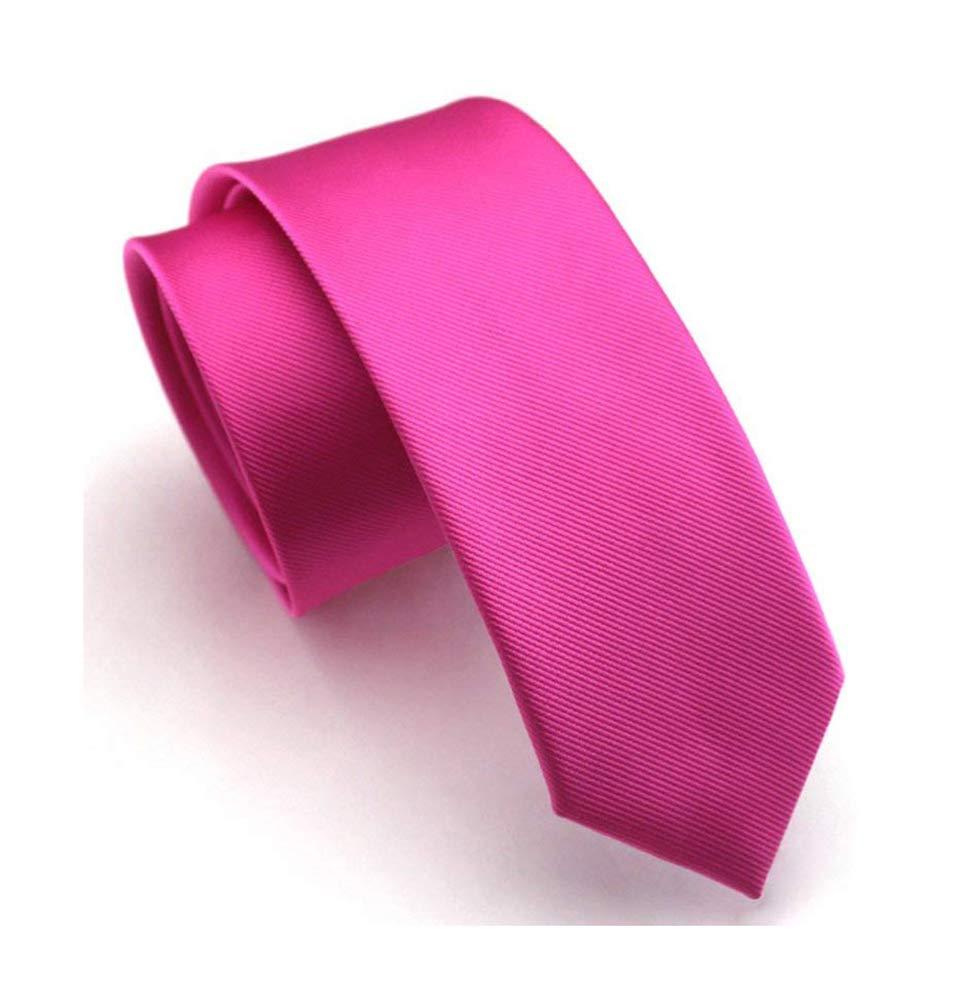 Mens Big Boy Classic Rose Red Skinny Silk Ties Wedding Premium Summer uk Necktie
