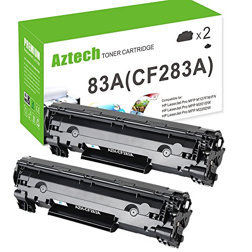Aztech 2 Pack Replaces HP 83A CF283A Black Toner Cartridge For HP LaserJet Pro MFP M201dw M225dn M225dw M125nw M125a M127fw M127fn M125rnw M201n M225rdn M202n M202dw M126nw M201 M202 Series Printer for cheap