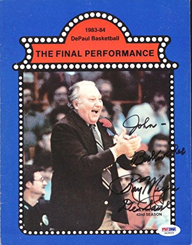 """Ray Meyer Autographed Signed Magazine Page Photo DePaul""""To John"""" #S43829 PSA/DNA Certified Autographed College Magazines"""