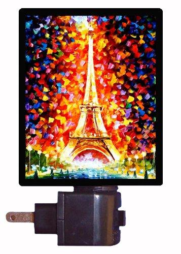 paris night light paris eiffel tower lighted france