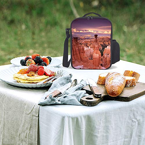 Refrigerated Cooler Tote Bag Lunch Bag Lunch Box Hot Or Cold Groceries Amphitheater Balance Bryce Canyon America Park Red Rock Natural Landscape Reusable Insulated Grocery Bags Waterproof (Bryce Amphitheater)