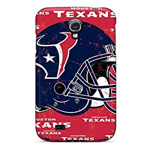 Samsung Galaxy S4 XFg136QvQF Allow Personal Design Colorful Houston Texans Pattern Protective Hard Phone Case -LavernaCooney