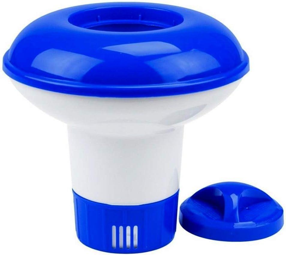 nuluxi Dispensador de Cloro de Flotador Dispensador de Piscinas Productos Químicos Dispensador de Tabletas de Cloro Ajustable Dispensador Cloro Flotante Adecuado para Piscina, Parque Acuático, SPA