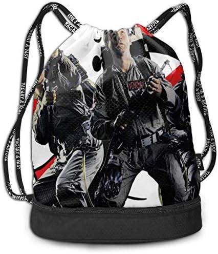 ゴーストバスターズ3 大容量 クファッション印刷 バックパッ男女兼用 バックパック小新鮮 旅行スポーツバッグ 防水スイミングバック学生バッグ 多機能 収納バックパッ